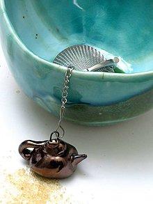 Nádoby - sitko na čaj kovový čajník - 8051275_