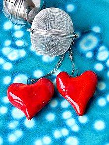 Nádoby - srdce sitko na čaj  červené srdce - 8051314_