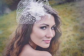 Ozdoby do vlasov - Svadba 2017 - svadobný fascinátor - 8051117_