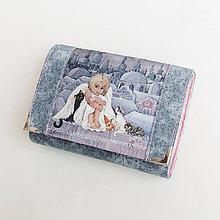 Peňaženky - Peněženka s andělkou a kočičkami - 8052490_