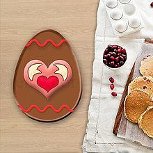 Dekorácie - Grafické čokoládové veľkonočné vajíčko vlnky - srdiečko - 8051836_