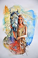 Obrazy - Sladká a jej koník - 8056934_