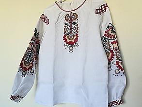 Košele - Vyšívaná dámska košeľa Vendelína - 8053990_