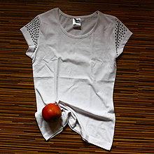 Tričká - Tričko so zdobenými rukávmi - 8055770_