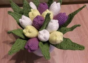 Dekorácie - Kytica tulipánov - 8057093_
