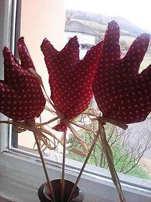 Dekorácie - Bodkované tulipány na špajdli - 8054059_