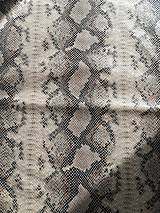 Textil - Imitácia hadej kože - 8056794_