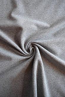 Textil - Teplákovina elastická nepočesaná – šedý melír - 8053913_