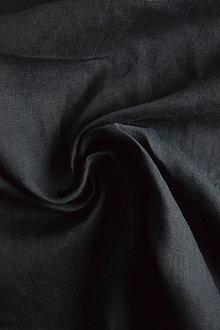 Textil - Len 100% jemný – černý - 8053916_