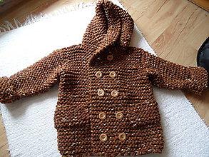 Detské oblečenie - teplučký svetrík karamelkový - 8055387_