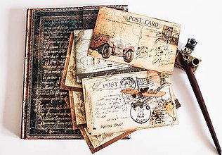 "Papiernictvo - Set pohľadníc "" Vintage Travel "" - 8055851_"