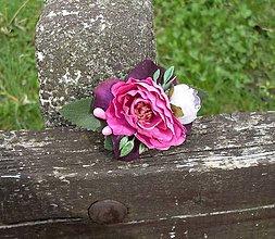 Ozdoby do vlasov - Kvetinová sponka - 8057069_