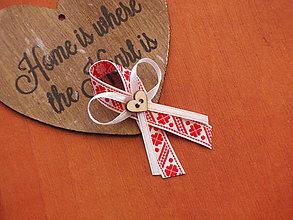 Pierka - Č. 122 Folklórne pierka v červenom - 8054311_