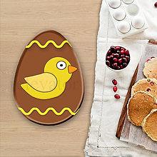 Grafika - Grafické čokoládové veľkonočné vajíčko vlnky (kuriatko) - 8054253_