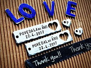 Kľúčenky - POVEDAL/A mi ÁNO 2ks 15€ - 8057476_