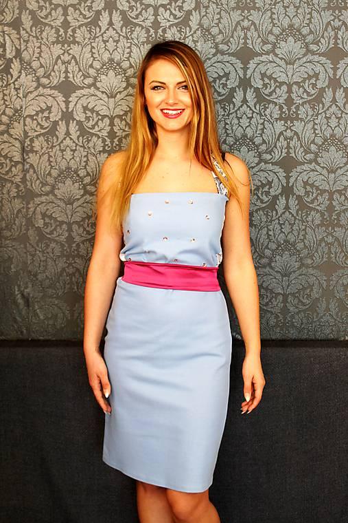 f88cc0b2a Riflové šaty elegantné / gk - SAShE.sk - Handmade Šaty