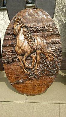Obrazy - Drevorezba koňe - 8058177_