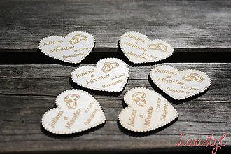 Darčeky pre svadobčanov - Magnetky pre svadobčanov - 8058461_