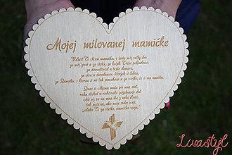 Drobnosti - Srdce pre mamu - 8058498_
