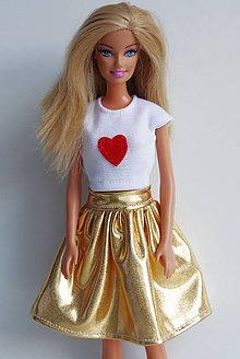 Hračky - Zlatá suknička pre Barbie - 8057485_