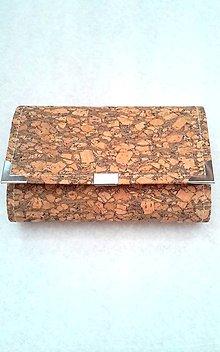 Peňaženky - Peňaženka z korku - 8058923_