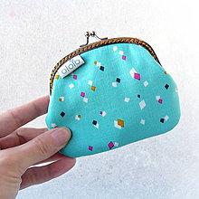 Peňaženky - Peňaženka Geometria na tyrkysovej - 8058603_