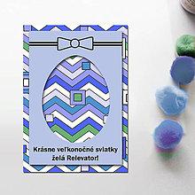 Papiernictvo - Veľkonočné vajíčko - personalizovaná pohľadnica (cik cak) - 8057137_