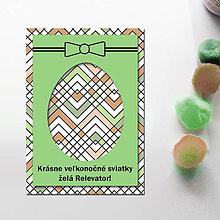 Papiernictvo - Veľkonočné vajíčko - personalizovaná pohľadnica (cik cak 2) - 8057206_
