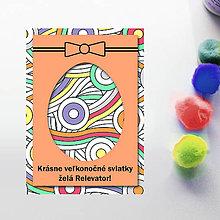 Papiernictvo - Veľkonočné vajíčko - personalizovaná pohľadnica (guličky) - 8057650_