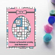 Papiernictvo - Veľkonočné vajíčko - personalizovaná pohľadnica (štvorčeková) - 8058033_