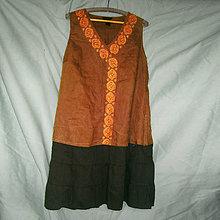 Šaty - Ľanové hnedé- zľava z 18,50 - 8060553_