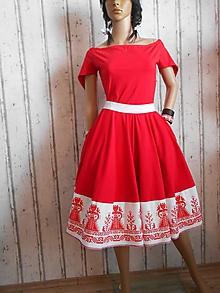 """Šaty - Floral Folk """" Červené ľudové """" šaty - 8060613_"""