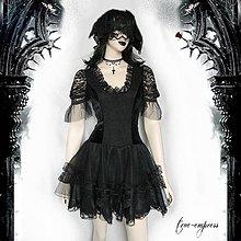 Šaty - Gotické sametové šaty - 8059982_