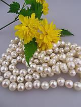 Minerály - perly 9-10mm, riečne perly, perly korálky - 8060135_