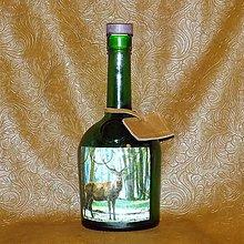 Iné - Poľovnícka fľaša  Jeleň medzi stromami - 8059650_