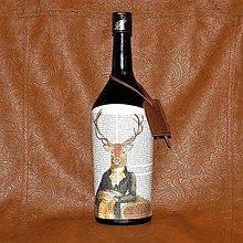 Iné - Poľovnícka fľaša Mr. Jeleň - 8059654_