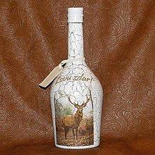 Iné - Fľaša pre lovcov jeleňov Lovu zdar! - 8059665_