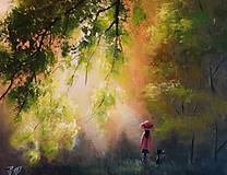 Obrazy - Svťlo ve větvích - 8061095_