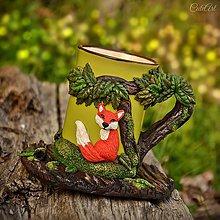 Nádoby - Čaj v lese II. - hrnček na čaj s líškou - 8061017_