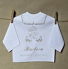 Detské oblečenie - košieľka na krst vyšívaná - 8060147_
