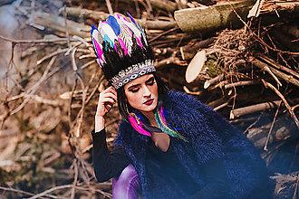 Ozdoby do vlasov - Farebná indiánka - 8060604_