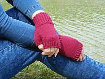 Rukavice - jednoduché 100% Merino rukavičky bez prstov - 8060988_