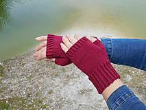 Rukavice - jednoduché 100% Merino rukavičky bez prstov - 8060991_