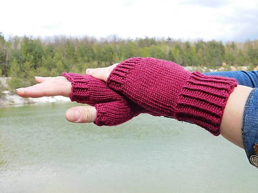jednoduché 100% Merino rukavičky bez prstov