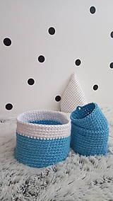 Sada detských košíkov - modré