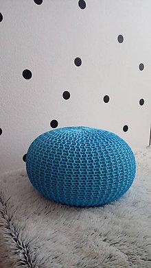 Úžitkový textil - Detský puf / podsedák - modrý - 8060129_