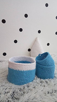 Košíky - Sada detských košíkov - modré - 8060190_
