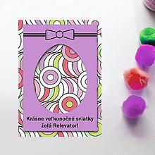 Papiernictvo - Veľkonočné vajíčko - personalizovaná pohľadnica (jojá) - 8059447_