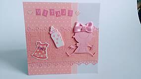 Papiernictvo - Pohľadnica k narodeniu dievčatka 2 - 8061829_