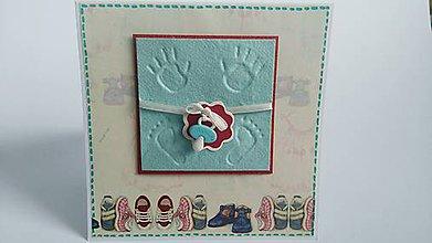 Papiernictvo - Pohľadnica k narodeniu dieťaťa - 8061844_